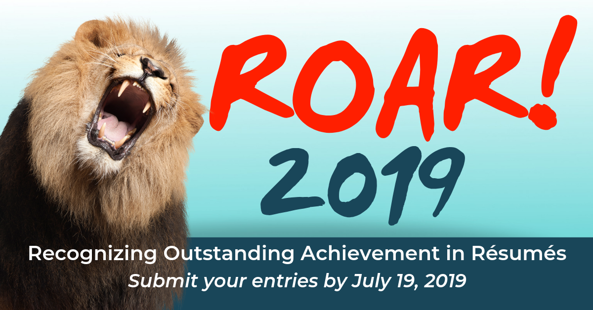 Recognizing Outstanding Achievement in Resumes - Submit your entries by July 19, 2019